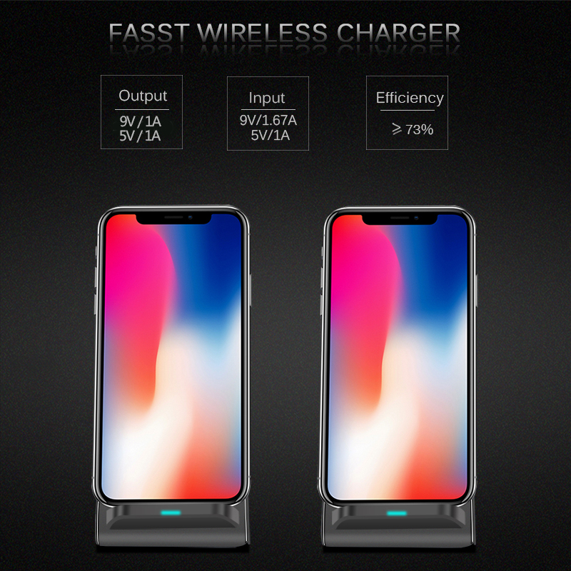 CinkeyPro QI Wireless Charger Quick Charge 2 0 Fast Charging for iPhone 8 10 X Samsung