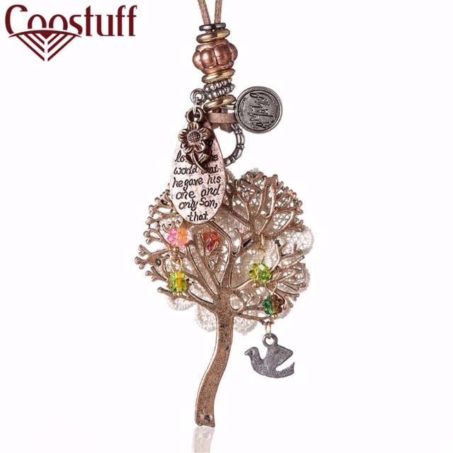 Vintage Rose Gold Life Tree woman Choker Necklaces Jewelry statement