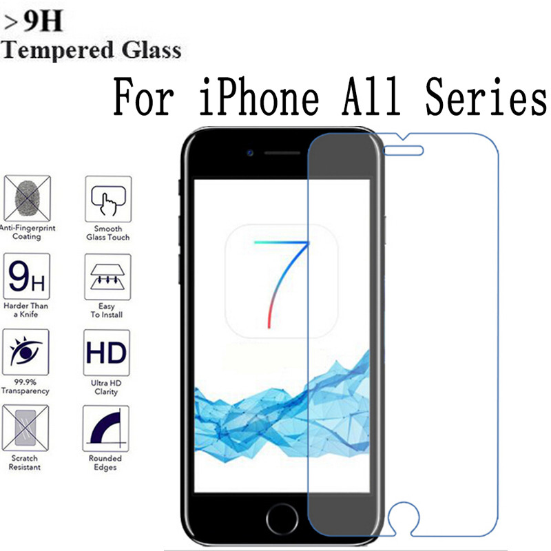 For iPhone 7 Plus 9H Anti-Explosion Tempered Glass Screen Protector For iPhone 7 Protective Film for Iphone 6 6s 7 Plus 5s SE