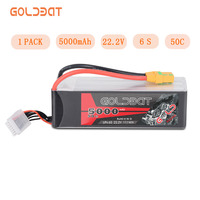 GOLDBAT RC LiPo Battery 5000mAh 22.2V 6S LiPo Battery for rc car 5000mah LiPo 6S lipo 50C with XT90 For RC Heli Drone Car Boat
