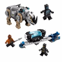 Lepin New 07100 Genuine Super Hero Series Black Panther Set 76099 Building Blocks Bricks Educational Toys
