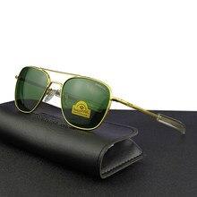 Piloto eua. re óculos de sol masculino qualidade superior designer marca randolph agx temperado lente de vidro ao óculos de sol masculino tj116