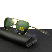 Pilot USA.RE Sunglasses Men Top Quality Brand Designer RANDOLPH AGX Tempered Glass Lens AO Sun Glasses Male TJ116