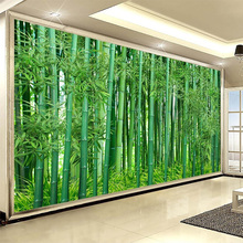 chinese style hd green bamboo forest landscape mural wallpaper living room tv sofa backdrop wall covering fresco papel de parede