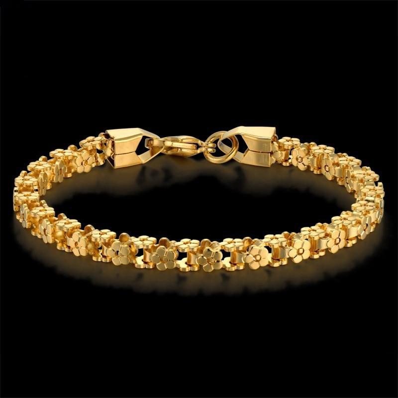 """Auksinės apyrankės Madingi nerūdijančio plieno apyrankės moterims """"Femme"""" Derliaus juvelyrika 7 'pulseras 5MM moterų apyrankė"""