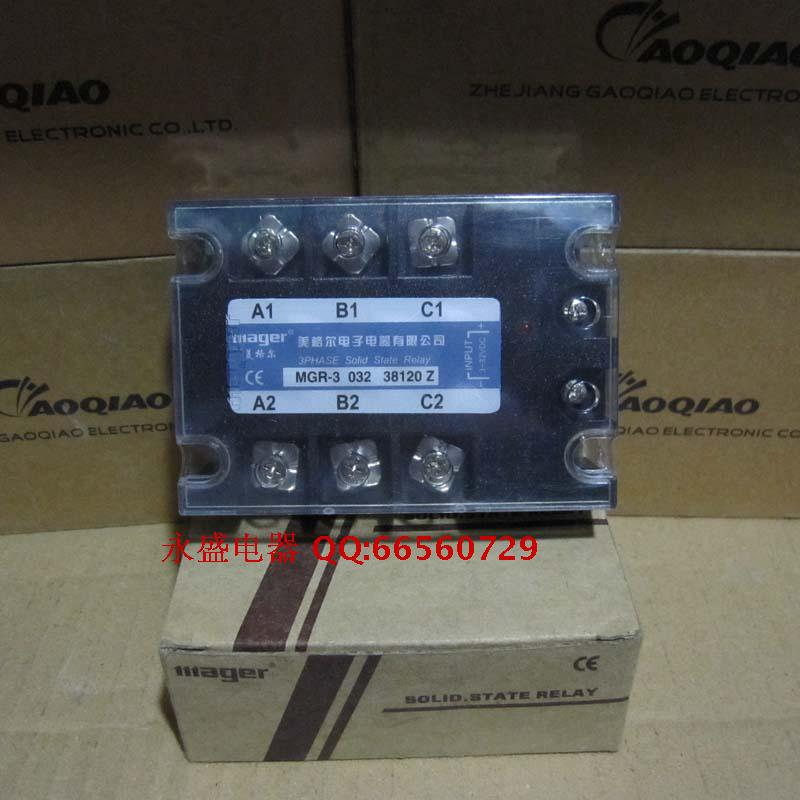 mager phase solid state relay MGR-3 032 38150Z/150A normally open single phase solid state relay ssr mgr 1 d48120 120a control dc ac 24 480v