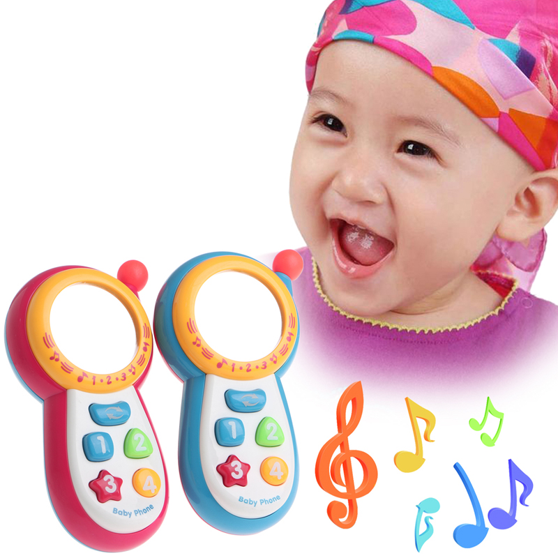 1 PC Baby Kids Learning Study Musical Sound Cell Phone Educational Mobile Toy Phone