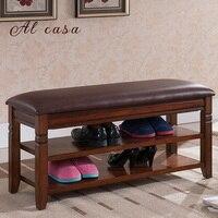 wooden shoe footstool bench with PU cushion shoe storage cabinet shelf flip open style rack ottoman furniture