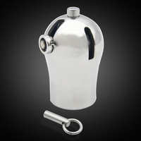 Stainless Steel Stealth Lock Male Chastity Device Cock Cage Fetish Virginity Penis Lock Cock Ring Chastity Belt For Men Penis