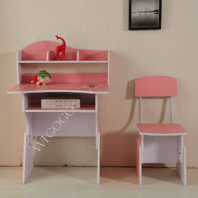 kids pink wooden student study table with chair on aliexpress com