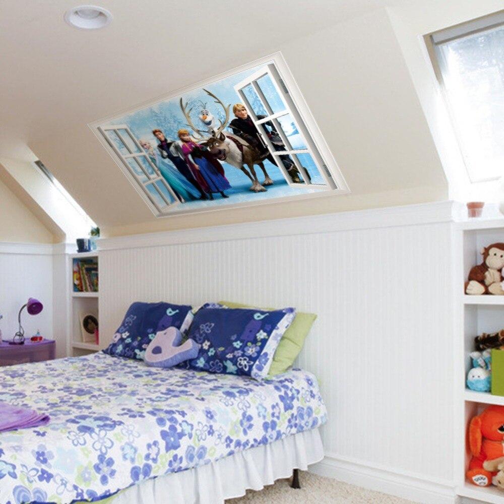 100 princess wall sticker princess wall art decals princess wall sticker elsa anna sister princess wall sticker home decor cartoon wall