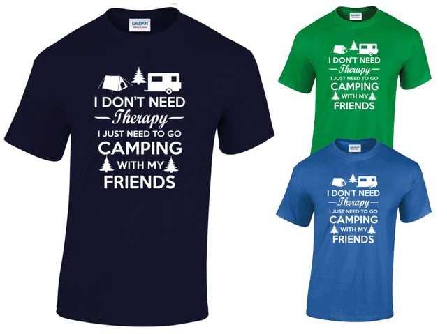 I Don T Need Therapy Camping T Shirt Caravan Campervan Rv New