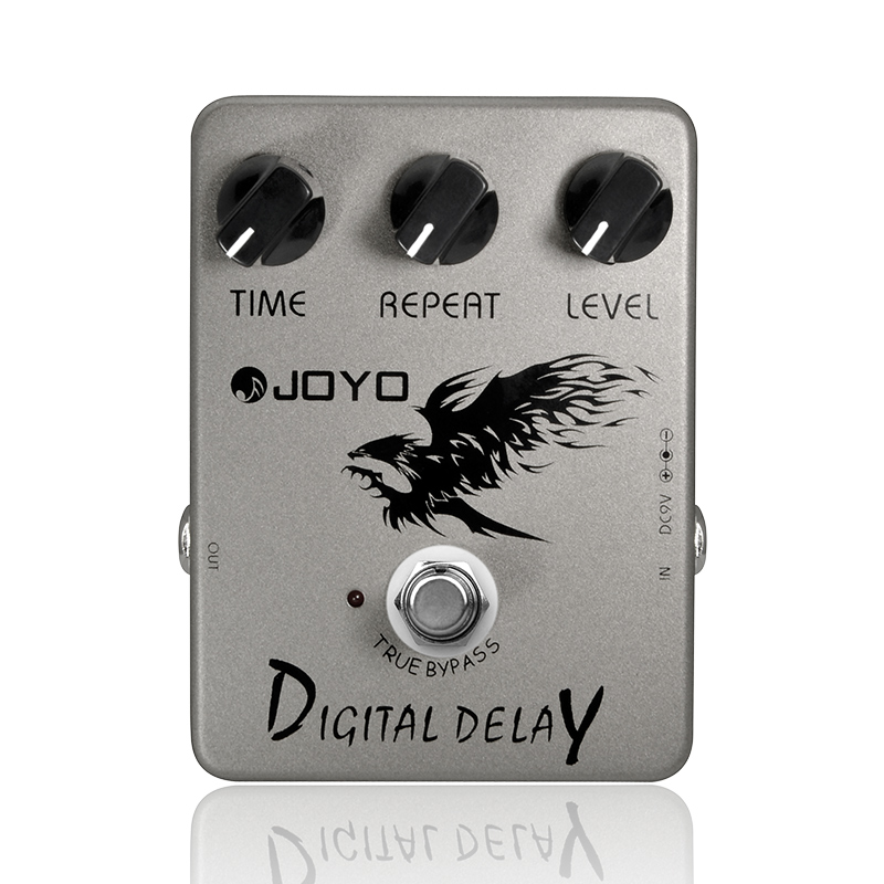 Digital Delay Guitar Effect Pedal Time Delay Repeat Level Adjustment Close To Analog Delay 25ms 600ms Delay Range Joyo JF 08-in Guitar Parts & Accessories from Sports & Entertainment    1