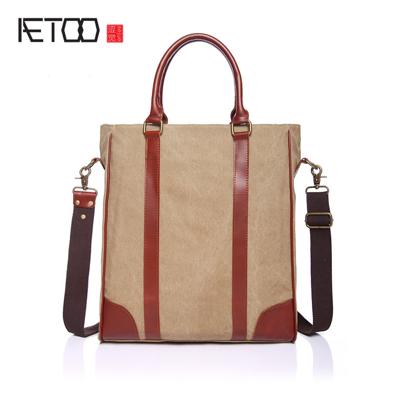 AETOO  Korean version of the tide 2017 new canvas handbags in the bag of students shoulder Messenger bag fashion bag oxford bag korean version of the female students shoulder bag large capacity backpack canvas backpacks