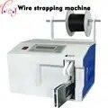 Cabo de fio máquina cintas T15 40 Bobina Vinculativo Máquina máquina de embalagem de aço Inoxidável mangueira 220 V 1 PC