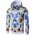 New Arrival Men  3d sweatshirts Long Sleeve Autumn Wear Hoodies High Quality male Casual Print painting Flower Hoodies