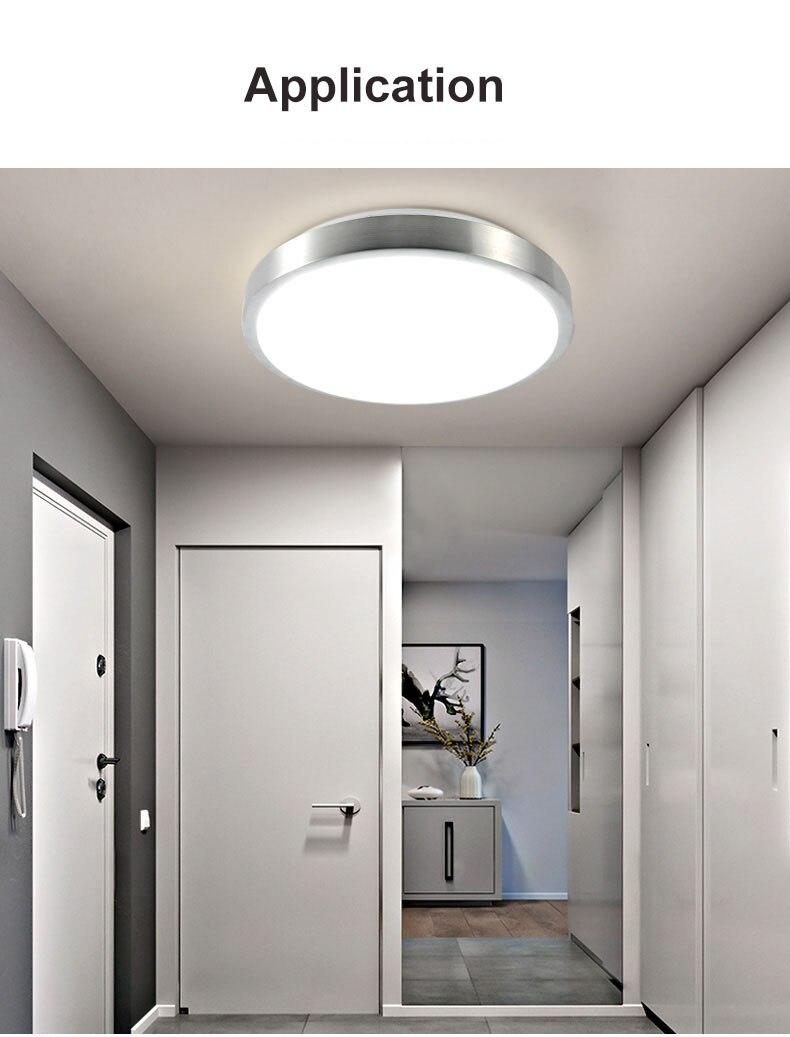 Image 4 - Движения Сенсор/радар человеческого индукции акриловые светодиодные принадлежности для потолочного светильника ресторан для ванной комнаты, проход Лестницы балконные потолочные светильники-in Потолочные лампы from Лампы и освещение