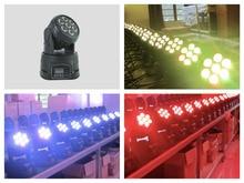8pcs/lot, Mini LED Moving Head Wash 7x10W RGBW 4in1 or 7x15w RGBWAUV 6in1 Lighting DMX DJ Stage Disco Party Event light