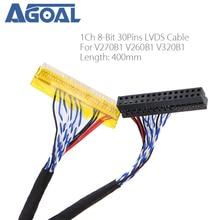 خاص ل لوحة V270B1 V260B1 V320B1 LVDS كابل 1ch 8 بت 30 دبابيس 30pin واحد 8 خط 400 مللي متر ل LCD FI X30SSL HF