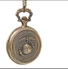 91690fc64ef Novo relógio de quartzo Moda estados unidos corpo de fuzileiros navais de  antiguidades Bronze mens presente relógios de bolso