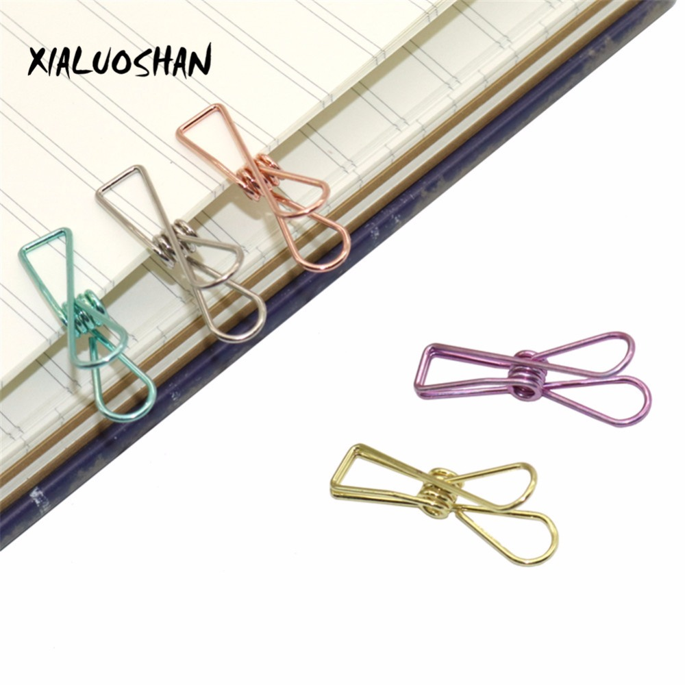 Office Binding Supplies 5 Colors Hollow Out Metal Binder Retro Fish Clips Notes Letter Paper Clip DIY Bookmark Office Supplies