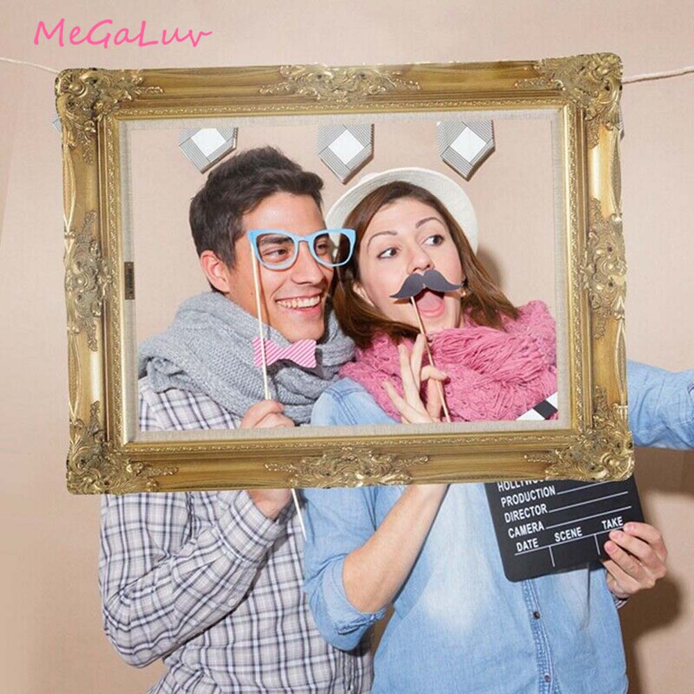 1pc Vintage European Wedding Party Photo Booth Prop DIY Paper Picture Frame Photo Booth Props Party Decoration Background Props