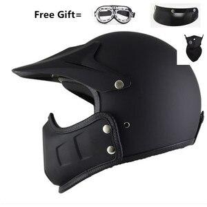 Image 2 - motocross casco moto vintage motorcycle helmet jet capacetes de motociclista off road cascos para moto thompson modular