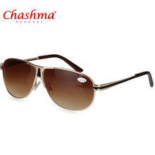 95bcf7747bc0 Bifocal Reading Glasses Unisex Diopter Glasses Male Polarized Sunglasses  Presbyopic Eyeglasses +1.0+1.5+2.0+2.5+3.0+3.5