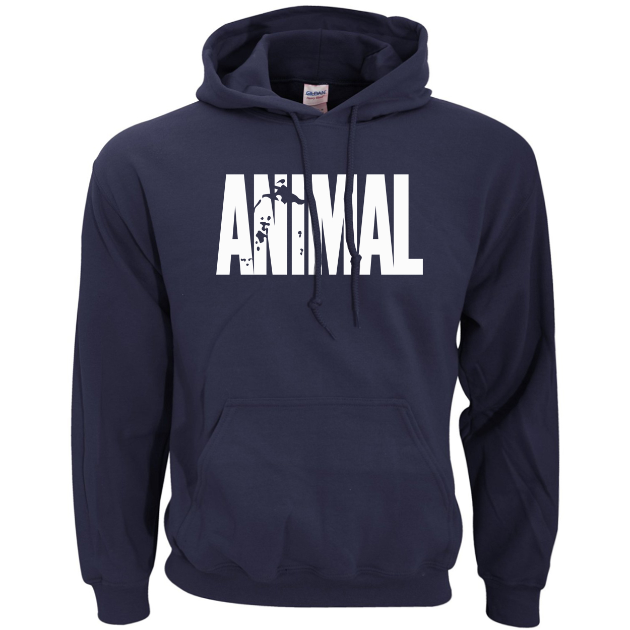 Bodybuilding Animal Hoodies Men Sports Fitness Loose Fit Gyms Musclefitting Male Sweatshirt 2019 Spring Winter Fleece Hoodie