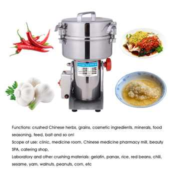 1000g stainless steel grinder Grains Spices Hebals Cereals Coffee Dry Food Grinder Mill Grinding Machine gristmill Amoladora New
