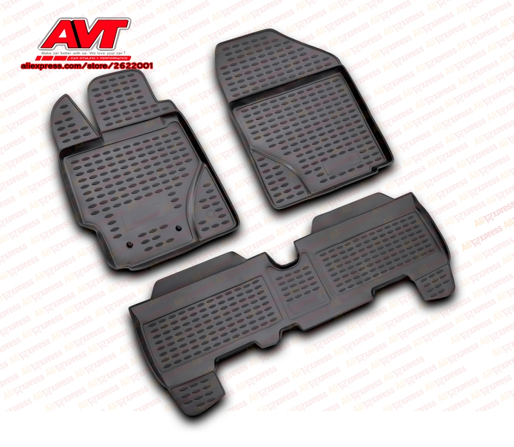 Floor Mats For Toyota Yaris 2006 2010 3 Pcs Rubber Rugs
