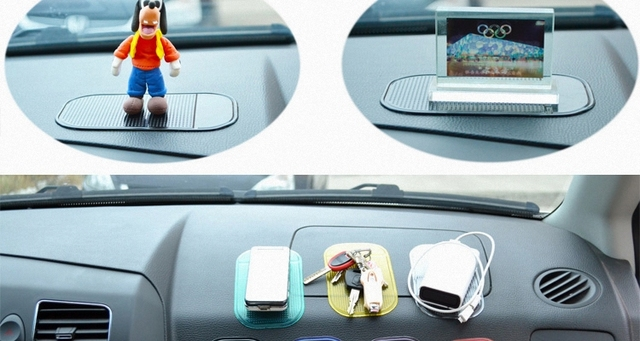 The New Automobiles Interior Accessories for Mobile Phone Mp3mp4 Pad GPS Anti Slip Car Sticky Anti-Slip Mat