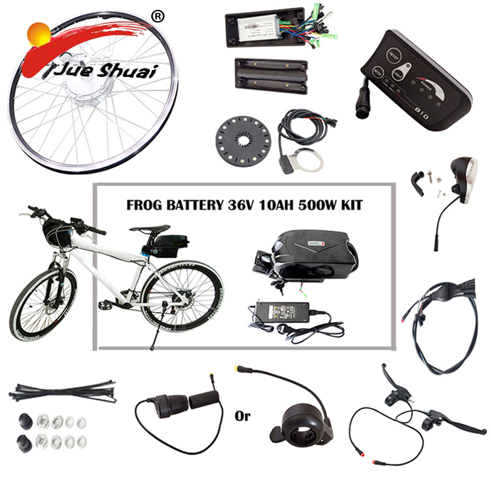 36V 48V Lithium Battery Electric Bike 250W/350W/500W eBike Kit Electric Bike Conversion Kit Fit for 20 24 26 700C 28 bike hot sale rear rack drawer type 36v 10ah electric bike li ion battery 36v 10ah e bike kit 36v 500w battery