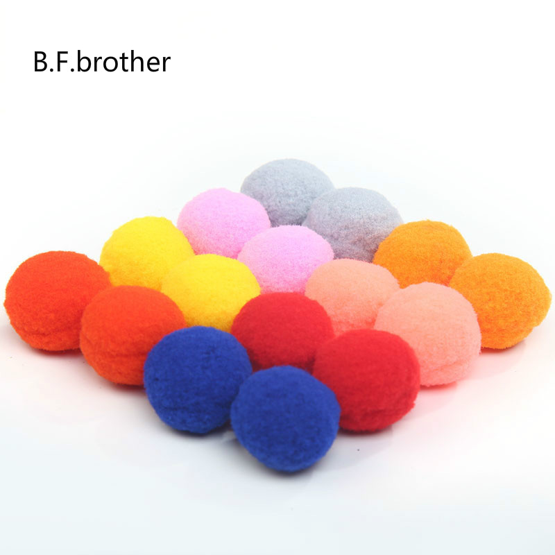 YELLOW Packs of Fluffy Pompoms B-Creative Craft Pom Poms