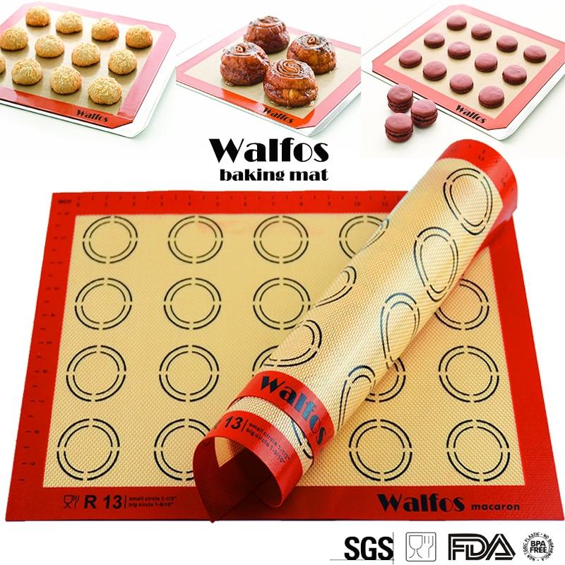 necaurlaidīgs silikona cepšanas paklājs Rolling Dough Mat cepeškrāsns čaulas cepešpannas Macaron mat cepšanas rīki