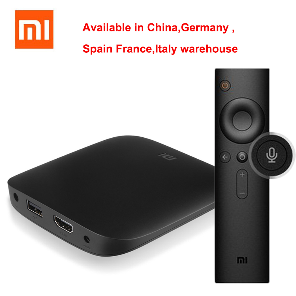 Original Xiaomi MI TV BOX 3 Smart 4K Ultra HD 2G 8G Android 6.0 Movie WIFI Google Cast WiFi Bluetooth Media Player Set top Box z ultra google edition