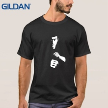 t shirt men's Retro Bruce Lee Yellow Dragon Licensed black tee shirt t shirt maker Models