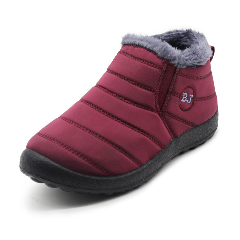 Waterproof Women Shoes Unisex Winter Keep warm Snow Boots Women Ankle boots Fur Inside Antiskid Bottom Mother Casual Boots