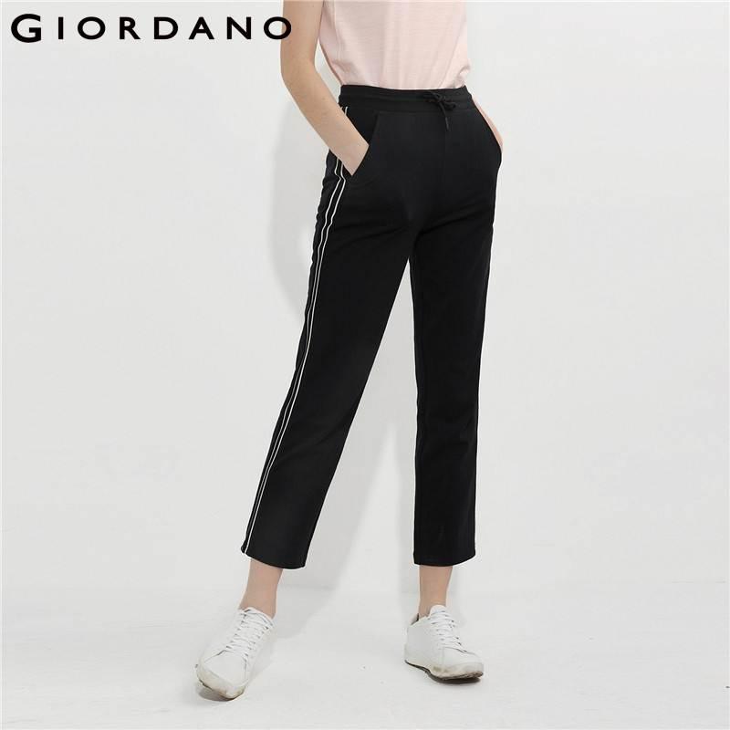 giordano women pants women stripe casual pants soft. Black Bedroom Furniture Sets. Home Design Ideas