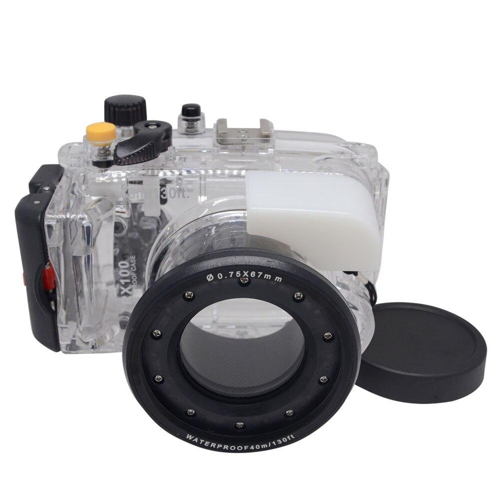 Mcoplus 40m/130ft RX 100 Underwater Case Waterproof Diving Housing Camera Bag for Sony RX 100