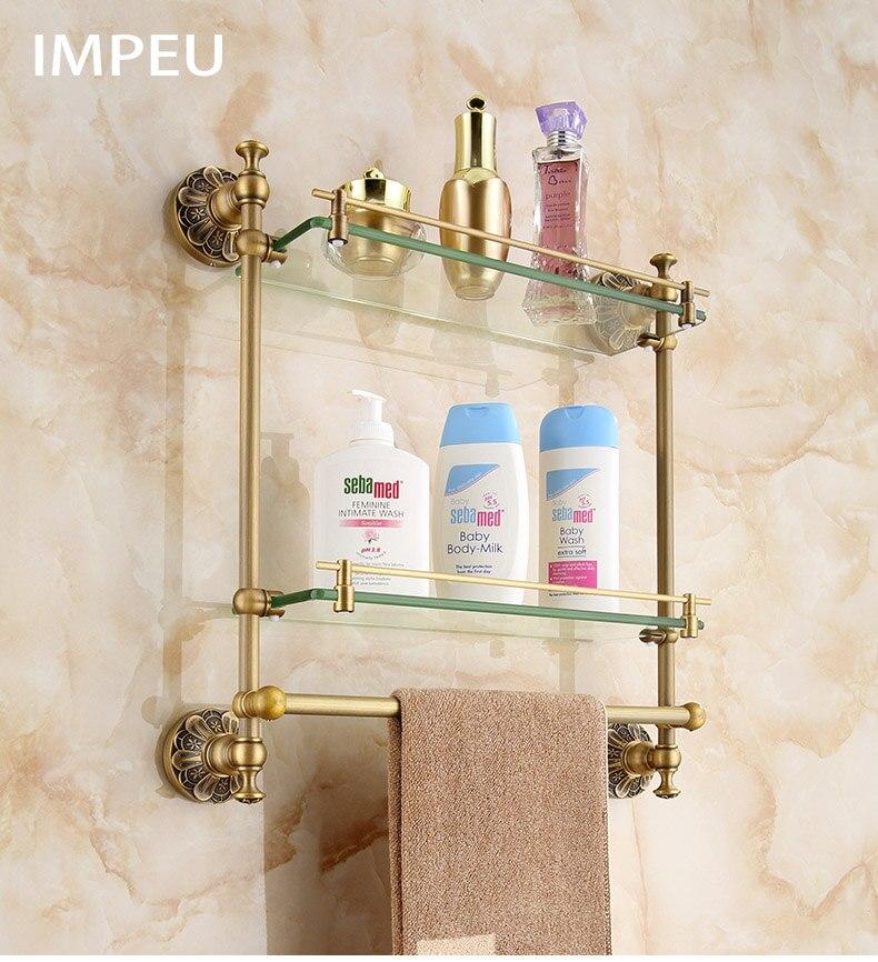 acessorios do banheiro de luxo comprimento cor bronze 45 cm 03