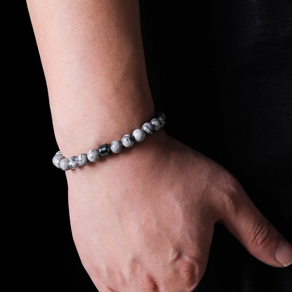 2019 Cylinder Beaded Bracelet For Men Classic Nature Tiger Eyes Stone Beads Charm Bracelets&Bangles Homme Male Yoga Jewelry Gift (14)
