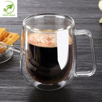 Free Shipping Creative Heat Resistant Double Wall Glass Cup Glass Coffee Mug Drinkware Style Glass Bottle