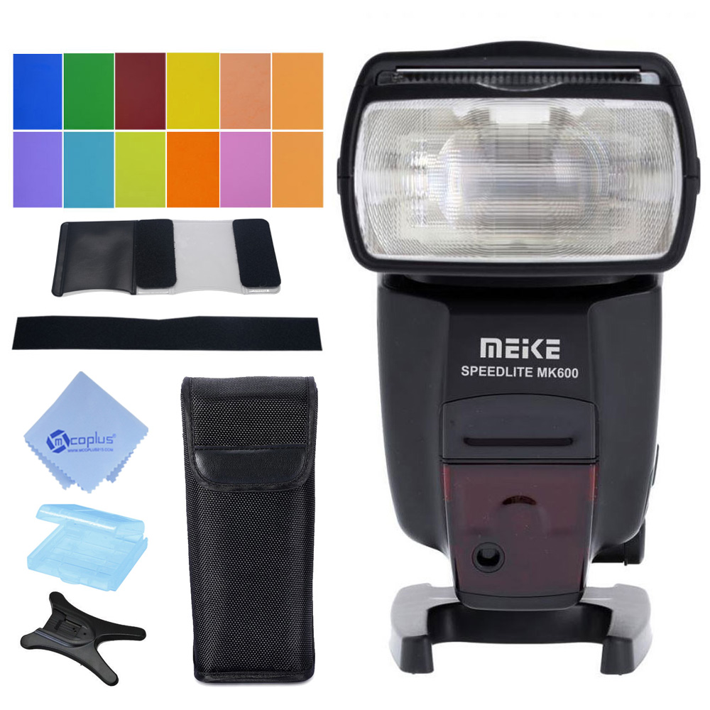 Meike MK-600 Flash GN60 TTL 1/8000s Sync Master & Slave Speedlite for Canon 580EX II 5D III 6D 7D 60D 70D genuine meike mk950 flash speedlite speedlight w 2 0 lcd display for canon dslr 4xaa