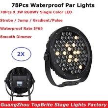 Waterproof Par Lights High Quality 78X3W RGBWY 5 Colors LED Flat Par Lights DMX Slim Par Perfect For Outdoor Dj Club Party Shows