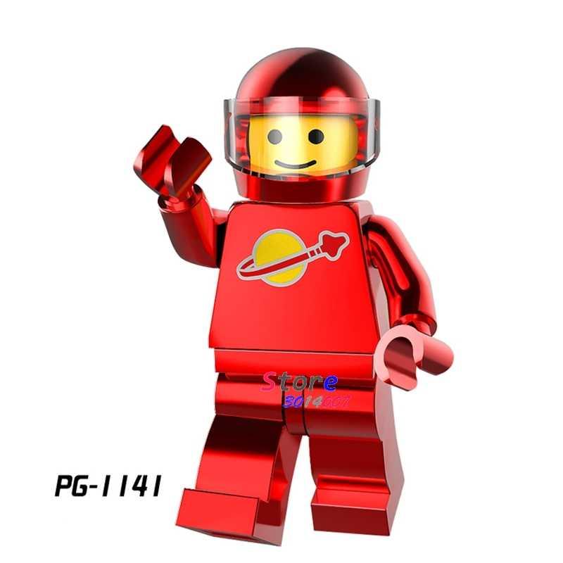 1 Uds de bloques de construcción de acción figuras de Star Wars de los superhéroes cromo astronauta rojo serie espacio hombre diy juguetes para niños de regalo