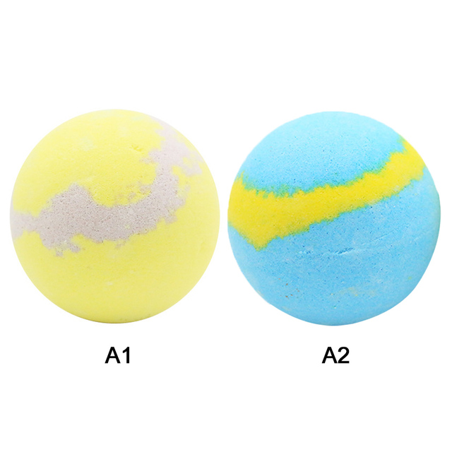 Bath Bombs Single pack Natural Essential Handmade Organic Spa Bomb Ideal Gift for Women Bath Salt, Lemon Scent Fizzy Spa J19 5