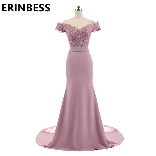 New Arrival Pink V Neck Cap Sleeve Vintage Lace Appliques Beaded Mermaid Bridesmaid Dresses Party Gowns Vestido De Festa