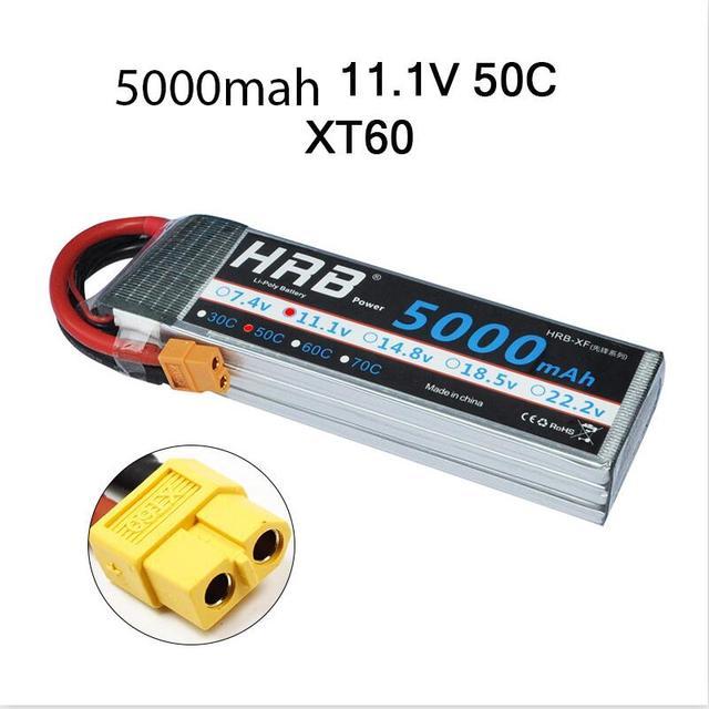 HRB 3S 11.1V 5000mah 50C Lipo