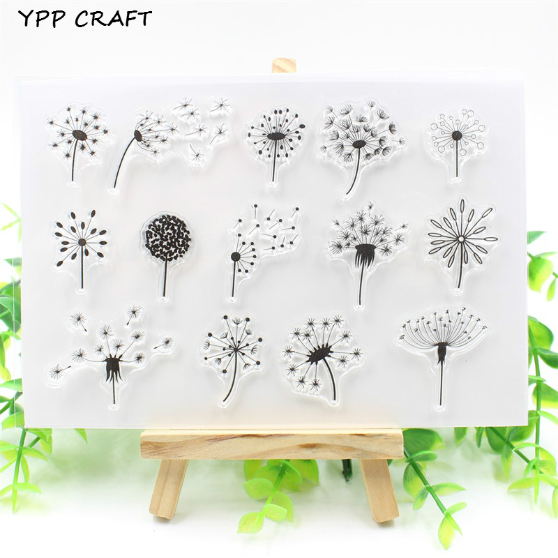 YPP CRAFT Dandelion Transparent Clear Silicone Stamp/Seal for DIY scrapbooking/photo album Decorative clear stamp about lovely baby design transparent clear silicone stamp seal for diy scrapbooking photo album clear stamp paper craft cl 052